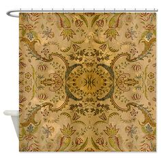 vintage damsk Shower Curtain by Vintage_Times