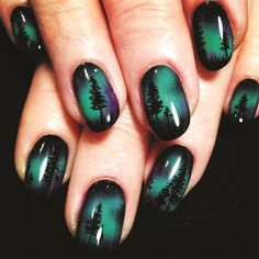 """If you're unfamiliar with nail trends and you hear the words """"coffin nails,"""" what comes to mind? It's not nails with coffins drawn on them. It's long nails with a square tip, and the look has. Beach Nail Art, Beach Nail Designs, Beach Nails, Best Nail Art Designs, Beach Art, Cute Acrylic Nails, Cute Nails, Pretty Nails, Nagellack Design"""