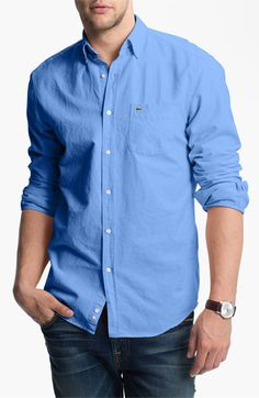 Lacoste Oxford Shirt (Tall) available at #Nordstrom
