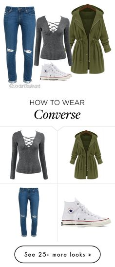 """""""Macking, Hanging #53 #JB"""" by jordanboulevard on Polyvore featuring Converse and Paige Denim"""