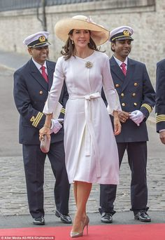 Humble:'I always find it difficult to speak of myself as a role model, you know, because I think it is other people and their impression of you that makes a role model,' Princess Mary said in the interview