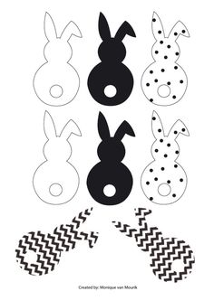Easter bunny garland DIY with cotton tails Easter Templates, Easter Printables, Happy Easter, Easter Bunny, Easter Eggs, Easter Garland, Diy Garland, Spring Crafts, Holiday Crafts
