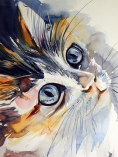 40 Easy Watercolor Painting Ideas For Beginners Easy Watercolor, Watercolor Animals, Cat Watercolour, Landscape Watercolour, Watercolor Artists, Watercolor Techniques, Animal Paintings, Animal Drawings, Drawing Animals