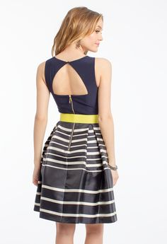 Sleeveless Striped F