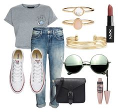 """""""#28"""" by mercedes93 on Polyvore featuring moda, New Look, Converse, Revo, Stella & Dot, Accessorize i Maybelline"""