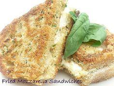 Fried Mozzarella Sandwhiches