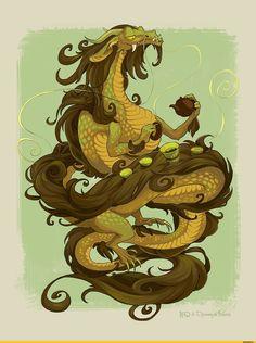 Чайный Дракон от Коды. / KODA :: дракон :: Смешные комиксы (веб-комиксы с юмором и их переводы) / смешные картинки и другие приколы: комиксы, гиф анимация, видео, лучший интеллектуальный юмор.