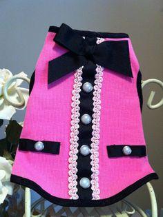 Pink Dog Dress Tank Tee by Ebay