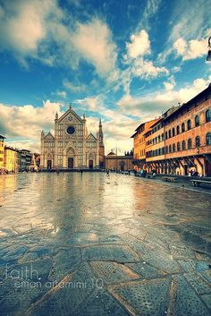 Santa Croce in Florence, a place I loved.