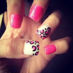 I want my nails to look like this! Get Nails, Love Nails, How To Do Nails, Pretty Nails, Hair And Nails, Sassy Nails, Cheetah Nails, Pink Cheetah, Cheetah Print