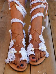 20% OFF PRINCESS /Wedding sandals/ gladiator leather sandals