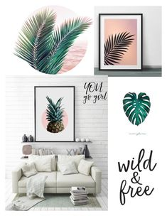 """""""Blush Green"""" by zpeale ❤ liked on Polyvore featuring interior, interiors, interior design, home, home decor and interior decorating"""
