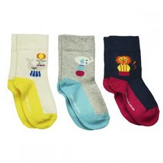 3 Pack Circus Baby Socks 12-24 Months