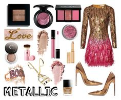 """""""Metallic"""" by camiolly ❤ liked on Polyvore featuring beauty, Matthew Williamson, Brian Atwood, Diane Kordas, Obsessive Compulsive Cosmetics, Lancôme, Bobbi Brown Cosmetics, MAC Cosmetics, Wander Beauty and Edie Parker"""
