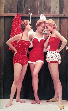 vintage swimsuits -- Look at that bevel!