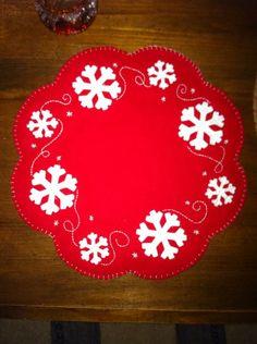 Snowflake Penny Rug