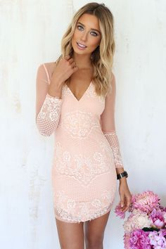 Sienna Peach Dress | SABO SKIRT