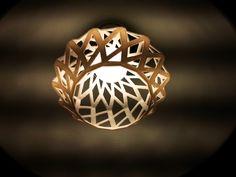 lampshade TWIST Studio Smart3Dprint, lampenkap 3d geprint.