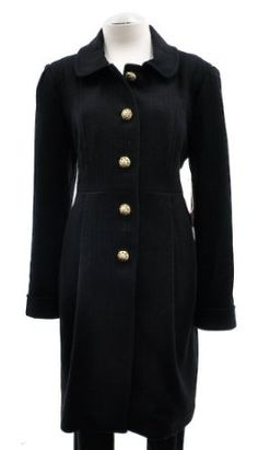 Juicy Couture Black Michelle Wool blend 2 Pocket Belted Long Sleeve Coat $199.00
