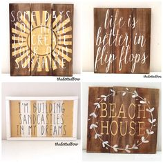 Beach theme wood signs ( yellow) by thedottedbow on Etsy https://www.etsy.com/listing/399496309/beach-theme-wood-signs-yellow