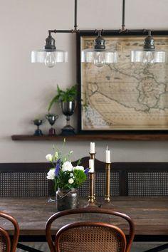 Postwar Construction Meets Prewar Charm in Victoria – Design*Sponge Vintage Furniture, Home Furniture, Victoria, Diner Restaurant, Home Structure, Style Loft, Interior And Exterior, Interior Design, Wooden Cabinets