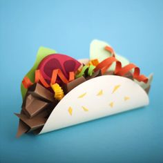 Benavente-Sovieri-Papercraft-Food3 -- new take on art related to food rather than clay, kinda cool