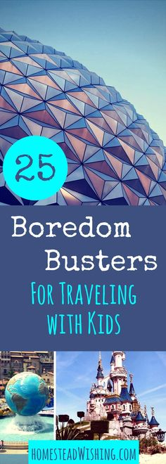 Are you going to be traveling with kids soon? Here are 25 boredom busters for the trip! Don't count on a movie doing the trick alone! Give them options!