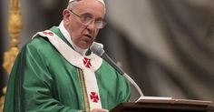 Pope Francis delivers his speech in St. Peter's Basilica at the Vatican, Sunday, Feb. 23, 2014.   (AP Photo/Alessandra Tarantino)
