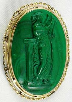 """The solid mass of dense malachite went to jewelry, and some grains dispersed in the rock – so-called earthy malachite, and small clusters of pure malachite used to produce high-quality green paint, """"malachite green""""."""