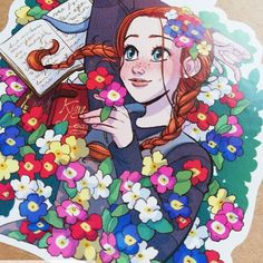 """Giulia 🍓 #ML comic artist on Instagram: """"I hope I'm not the only compulsive journal collector here 😐😐😐 for sure I'm not the only one hoping they could #renewannewithane 😢💔…"""" Anne Shirley, Anne Of Green Gables, Comic Artist, One And Only, The Collector, Fan Art, Journal, Comics, Random"""