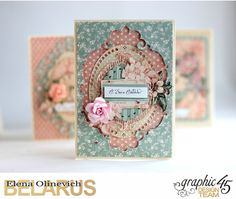 Elena Olinevich: Wedding Cards for Graphic 45