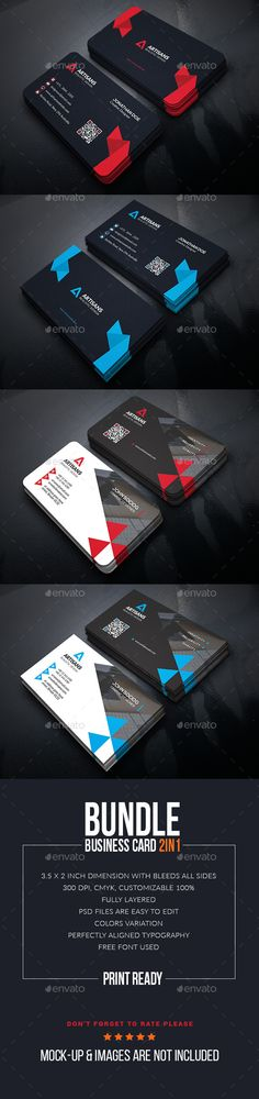 Creative Business Card Bundle Template #design #print Download: http://graphicriver.net/item/creative-business-card-bundle/12990080?ref=ksioks