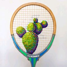 Dishfunctional Designs: Colorful Embroidery On Old Upcycled Tennis Rackets Diy Crafts Love, Handwritten Type, Broken China Jewelry, Diy Embroidery, Rackets, Tennis Racket, Creative Art, Creative Ideas, Sell On Etsy