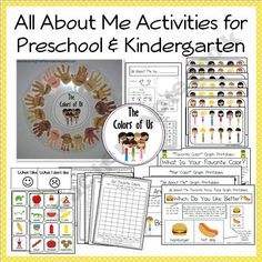 """All About Me"" Printables, Activities and Ideas for Preschool and Kindergarten-TeachingtheLittlePeople Shop -  Teachers Notebook"