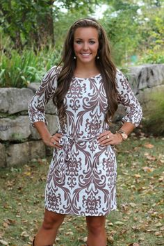 The Pink Lily Boutique - Autumn Bliss Mocha Belted Dress, $39.00 (http://www.thepinklilyboutique.com/autumn-bliss-mocha-belted-dress/)