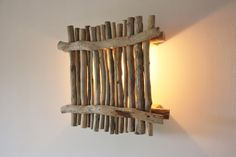 #diy Wall lamp made out of driftwood / #homedecor #driftwood