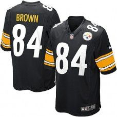 Nike Mens Pittsburgh Steelers Antonio Brown Jersey 84 Game Team Color Black  Color Black e553cb06d