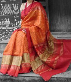 Elegant Munga Tussar Silk Saree