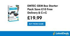 EMTEC GEM Box Starter Pack Save £10 Free Delivery & C+C, £19.99 at GAME