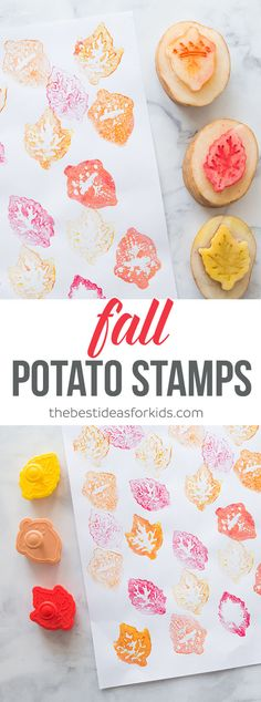 This simple method for creating Fall potato stamps will have your kids busy for hours! We show you how to make potato stamps - the easy way! via @bestideaskids