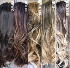 """Don't just live a life of black and white when there's a spectrum of colors ava. by Siren Palace Beauty&Training Ombre Hair Color For Brunettes, Hair Color Balayage, Hair Highlights, Carmel Highlights, Highlights For Dark Brown Hair, Boliage Hair, Cabelo Ombre Hair, Blond, Hair Color Techniques"