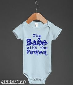 Babe with the Power #Skreened Great Baby onsie to give for Christmas - Classic for the Labyrinth / David Bowie 80s 90s fan #MagicDance