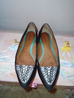 COACH Black Leather Pointed Toe Flats Shoes Casual Career Student sz 8 B #Coach #BalletFlats #Casual
