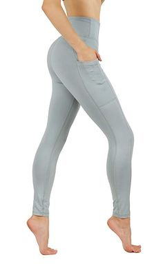 3e114bb2fd2fd9 CodeFit Yoga Pants Dry-Fit High Waist with Both Side Deeps Pockets Full  Length Workout Running Leggings (XL USA 16-18, CF100-MNT)