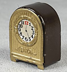 traditional miniature dollhouse clock (wooden & Metal?) Lundby