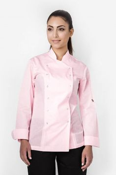 Women's Xenias Long Sleeve Chef Jacket Perfect Fit, Chef Jackets, Jackets For Women, Long Sleeve, Sleeves, Cotton, Tops, Fashion, Moda