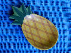 Fun Wooden Hand Painted Pineapple Bowl Vintage by MaiAloha on Etsy, $10.00