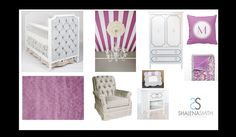 Orchid nursery design board inspired by the Cool Berry Affinity Stroller and the beautiful ceiling from Gigi's big girls room on Project Nursery . #BritaxStyle