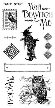 An Eerie Tale Cling Stamp Stamp 2. In stores in late May! #graphic45 #newreleases