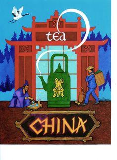 China tea print - etsy